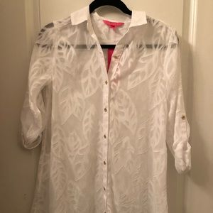 Lilly Pulitzer White Cover up